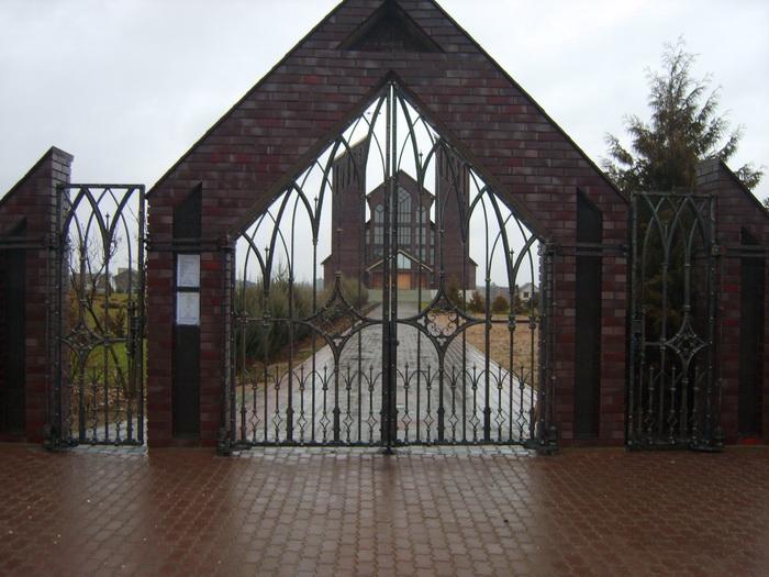 """Ворота и калитка """"Костел"""""""