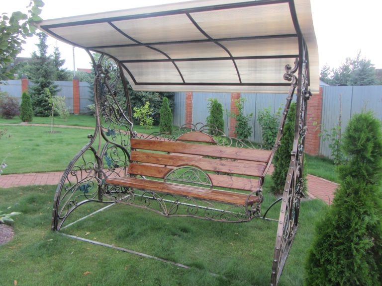 """Кованые садовые качели """"Въюн"""""""